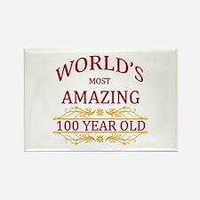 100th. Birthday Rectangle Magnet