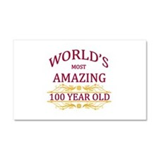 100th. Birthday Car Magnet 20 x 12