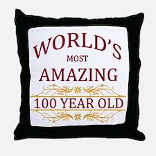 100th. Birthday Throw Pillow