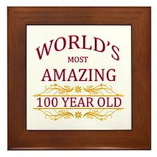 100th. Birthday Framed Tile