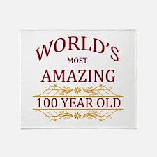 100th. Birthday Throw Blanket