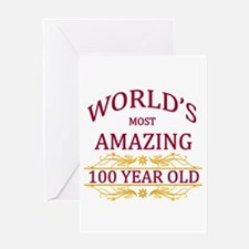100th. Birthday Greeting Card