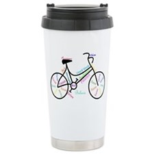 Motivational Words Bike Hobby or Sport Travel Mug