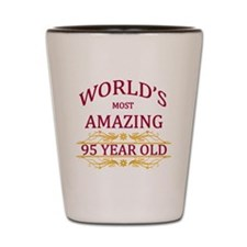 95th. Birthday Shot Glass