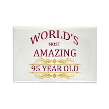95th. Birthday Rectangle Magnet