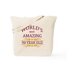 90th. Birthday Tote Bag