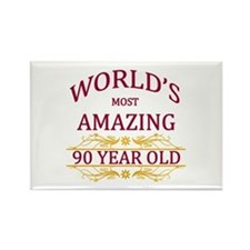 90th. Birthday Rectangle Magnet