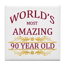 90th. Birthday Tile Coaster