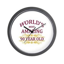 90th. Birthday Wall Clock