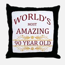 90th. Birthday Throw Pillow