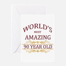 90th. Birthday Greeting Card