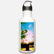 Clouds over Water Tower Designer Water Bottle