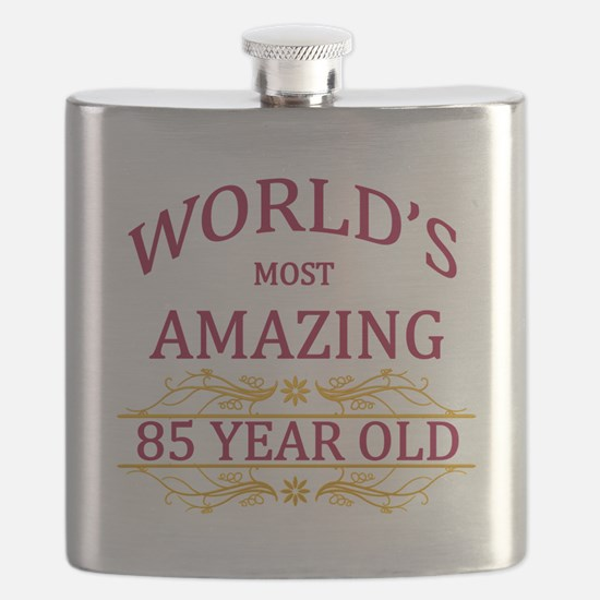 85th. Birthday Flask