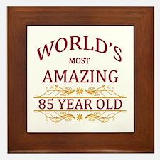 85th. Birthday Framed Tile