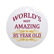 85th. Birthday Ornament (Round)