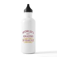 80th. Birthday Water Bottle