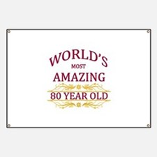 80th. Birthday Banner