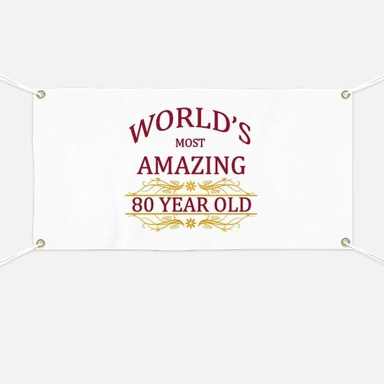 80th. Birthday Banner