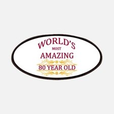 80th. Birthday Patches