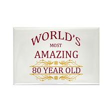 80th. Birthday Rectangle Magnet