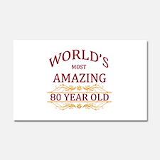 80th. Birthday Car Magnet 20 x 12