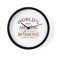 80th. Birthday Wall Clock
