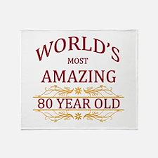 80th. Birthday Throw Blanket