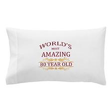 80th. Birthday Pillow Case
