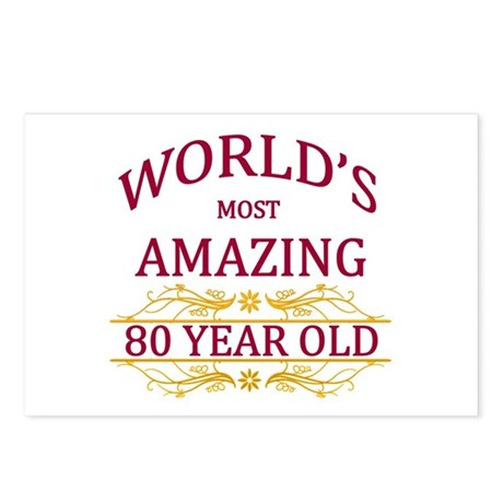 80th. Birthday Postcards (Package of 8)