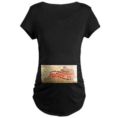 Flat Kentucky Maternity Dark T-Shirt