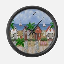 Island Time Large Wall Clock