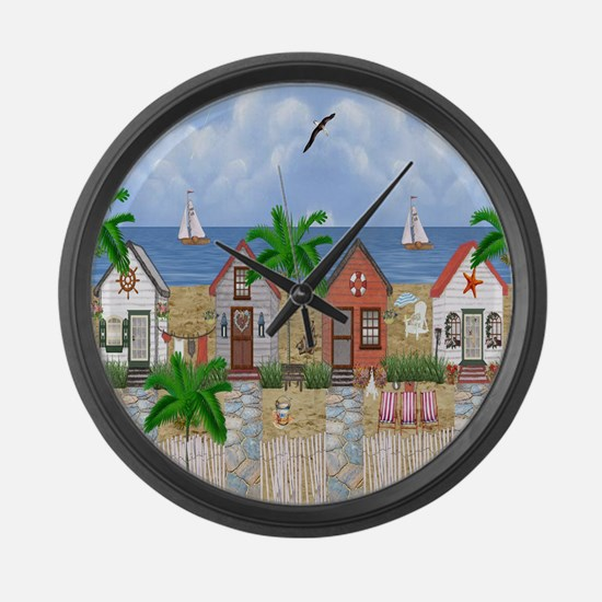 Island Time Large Wall Clock