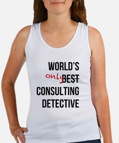 World's Only Consulting Detective Women's Tank Top