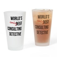 World's Only Consulting Detective Drinking Glass