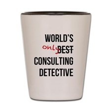 World's Only Consulting Detective Shot Glass