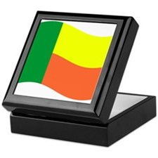 Waving Benin Flag Keepsake Box