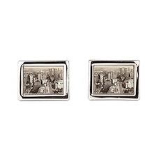 42nd St., NYC Vintage Rectangular Cufflinks