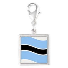 Waving Botswana Flag Charms