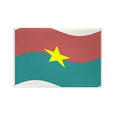 Waving Burkina Faso Flag Magnets