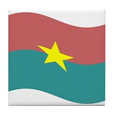 Waving Burkina Faso Flag Tile Coaster