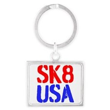 SK8 USA Landscape Keychain