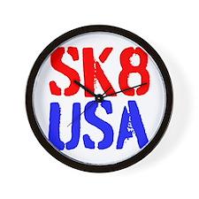 SK8 USA Wall Clock