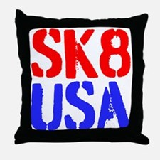 SK8 USA Throw Pillow