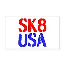 SK8 USA Rectangle Car Magnet