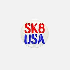 SK8 USA Mini Button