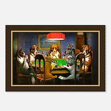 Poker Dogs Friend Postcards (Package of 8)