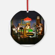Poker Dogs Friend Ornament (Round)