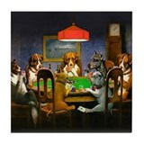 Dog playing poker Drink Coasters