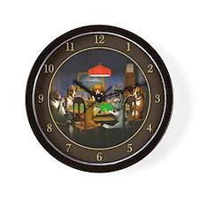 Poker Dogs Friend (brown) - Wall Clock