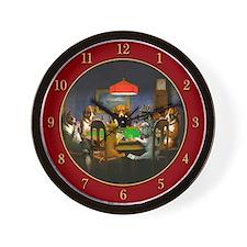 Poker Dogs Friend (red) - Wall Clock
